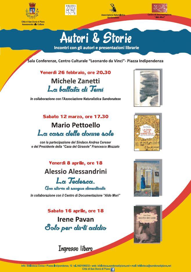 AUTORI e STORIE - LA BALLATA DI TEMI - Presentazione del libro di Michele Zanetti