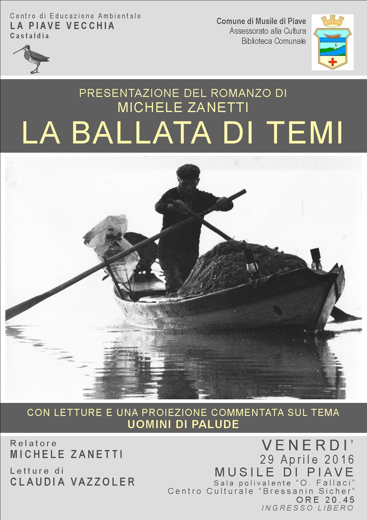 LA BALLATA DI TEMI - PRESENTAZIONE DEL LIBRO - Incontro con l'autore Michele Zanetti