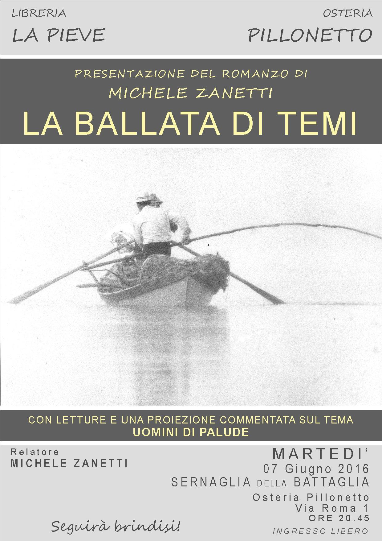 LA BALLATA DI TEMI - PRESENTAZIONE LIBRO Autore: Michele Zanetti
