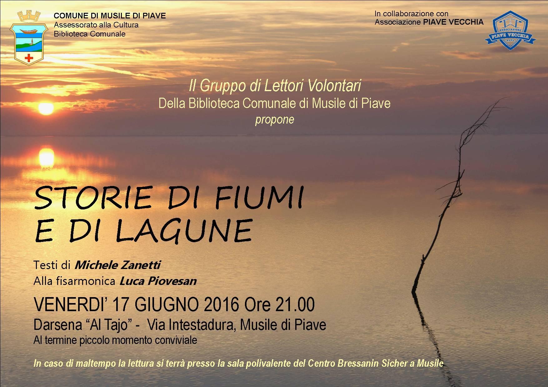 STORIE DI FIUMI E DI LAGUNE - Testi di Michele Zanetti, Alla fisarmoinica Luca Piovesan