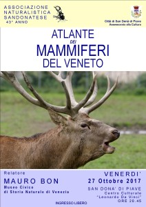 ATLANTE DEI MAMMIFERI DEL VENETO - Relatore Mauro Bon