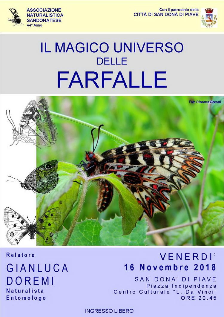 IL MAGICO UNIVERSO DELLE FARFALLE, serata ANS, Michele Zanetti
