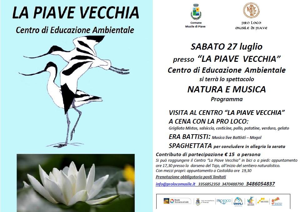 la-piave-vecchia-spettacolo-natura-e-musica-luglio-2019 associazione naturalistica sandondatese michele zanetti