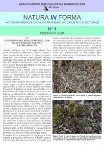 natura in forma n.1 - Notiziario aperiodico di aggiornamento naturalistico e culturale - ANS